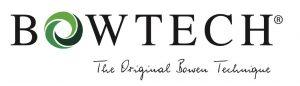 Das Bild zeigt das Logo des Bowtech Verbandes auf dem steht: Bowtech, die oginal Bowen Technik